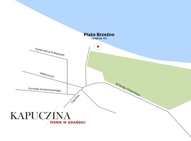 Mapa plaży w Brzeźnie