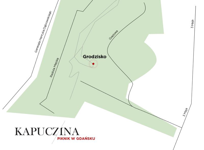 Mapa Grodziska