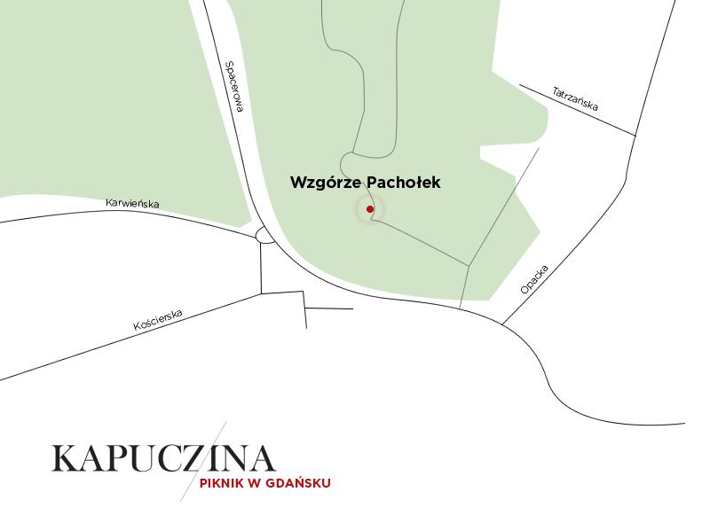 Jak dotrzeć na wzgórze Pachołek - mapa