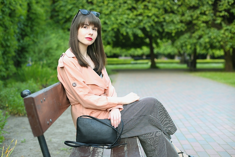 Kapuczina na ławce w parku