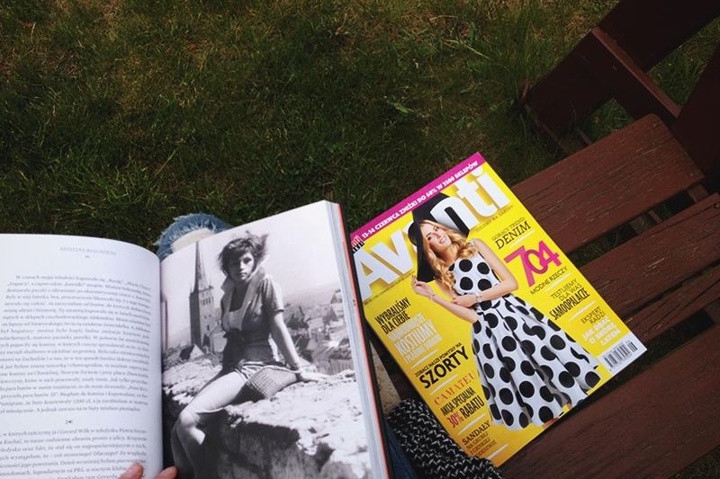 Blogerka modowa w gazecie