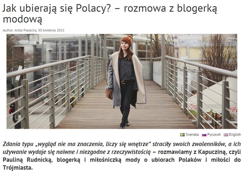 wywiad o modzie ulicznej w Polsce