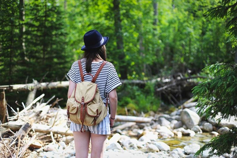 Paski, kapelusz i plecak górski