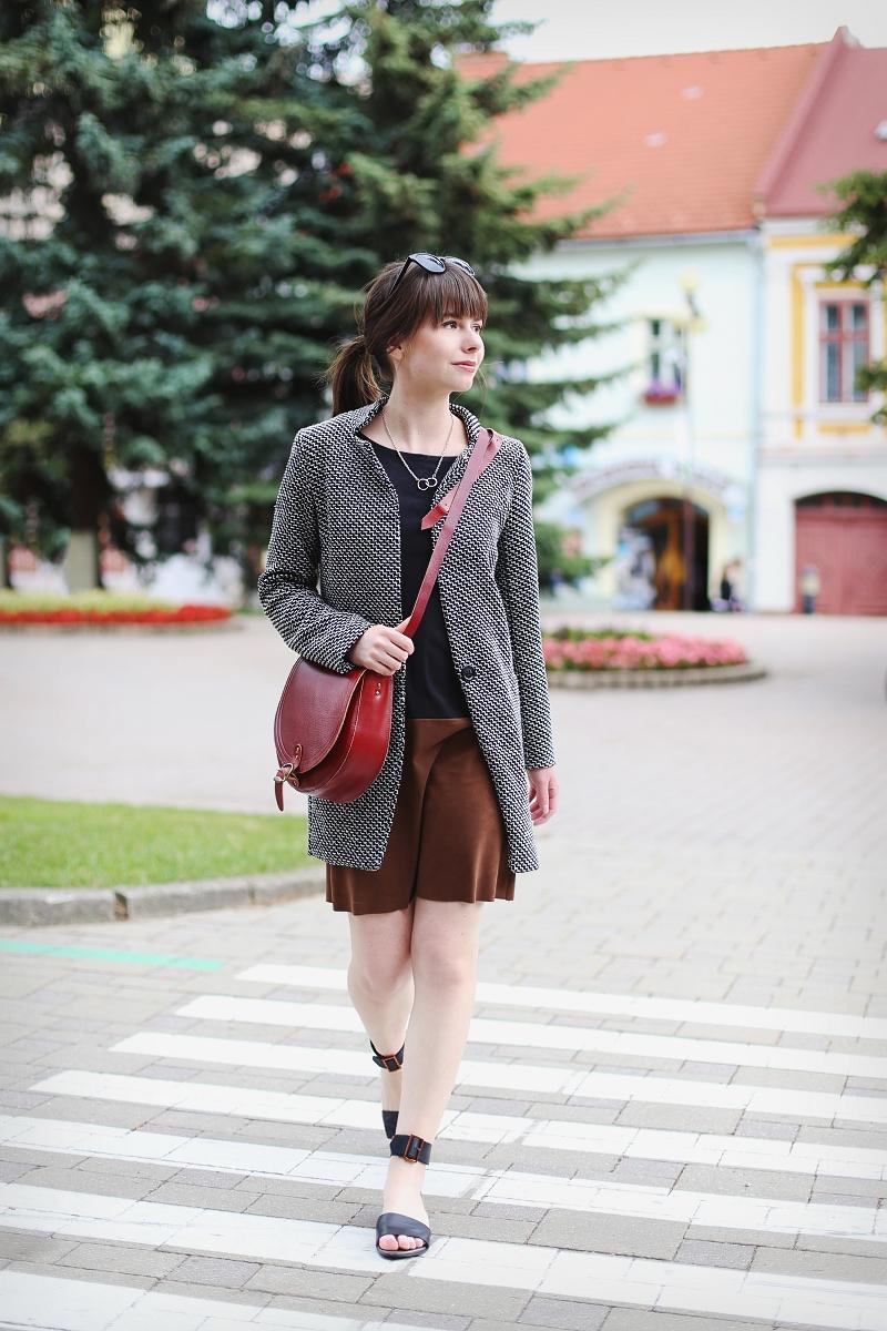Stylizacja z sukienką block colours