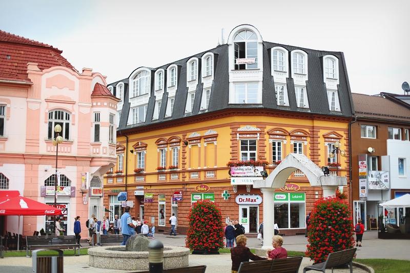 Rynek w mieście Poprad - zwiedzamy Słowację