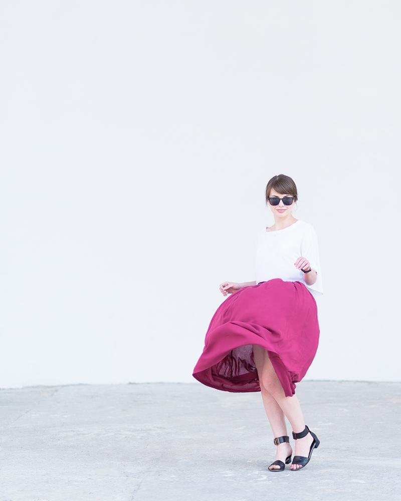 Spódnica maxi dla niskiej osoby
