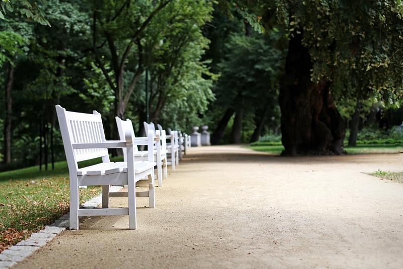 Ogród Saski Lublin - ławki