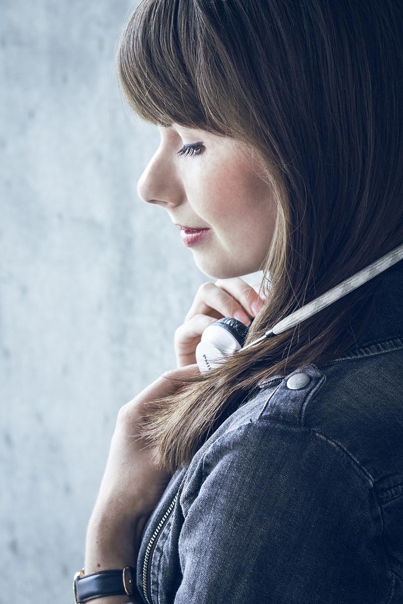 Portret + słuchawki
