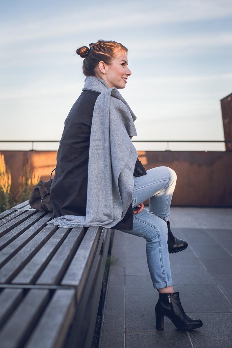 Slow fashion - wielki wełniany szal