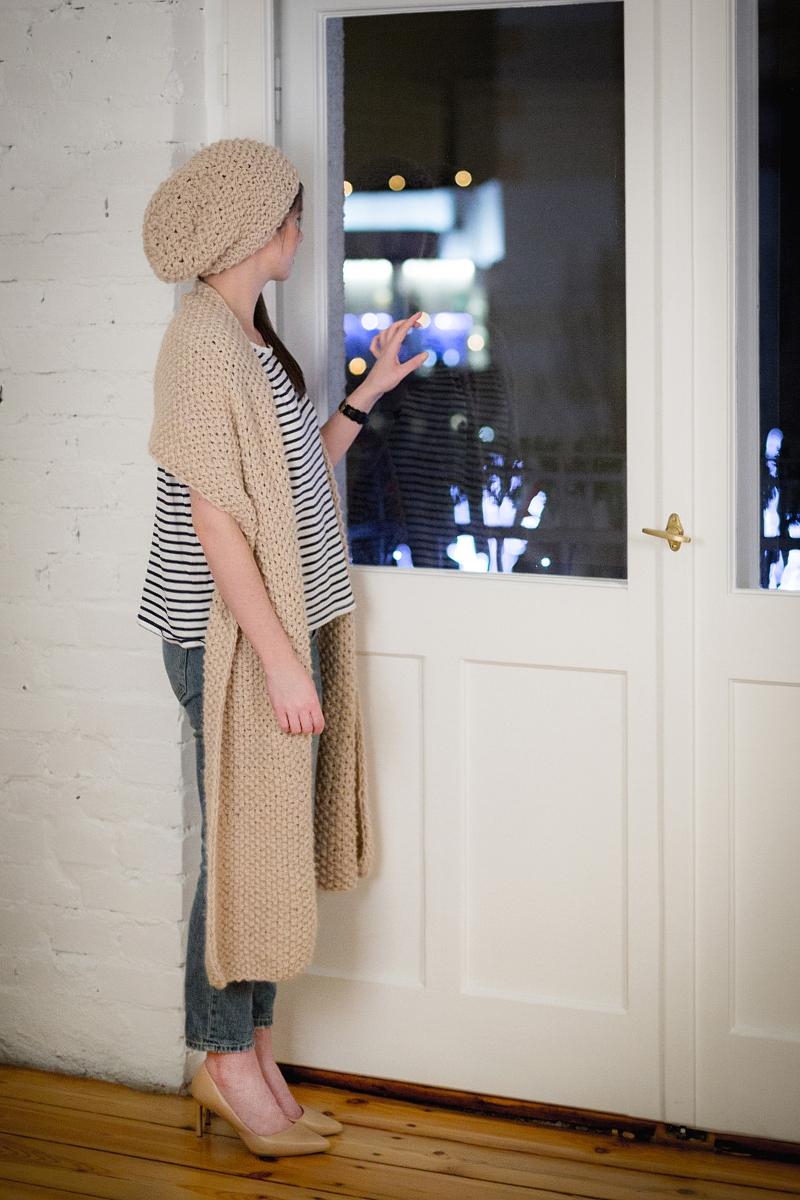 Minimalizm - wełniana czapa i szal