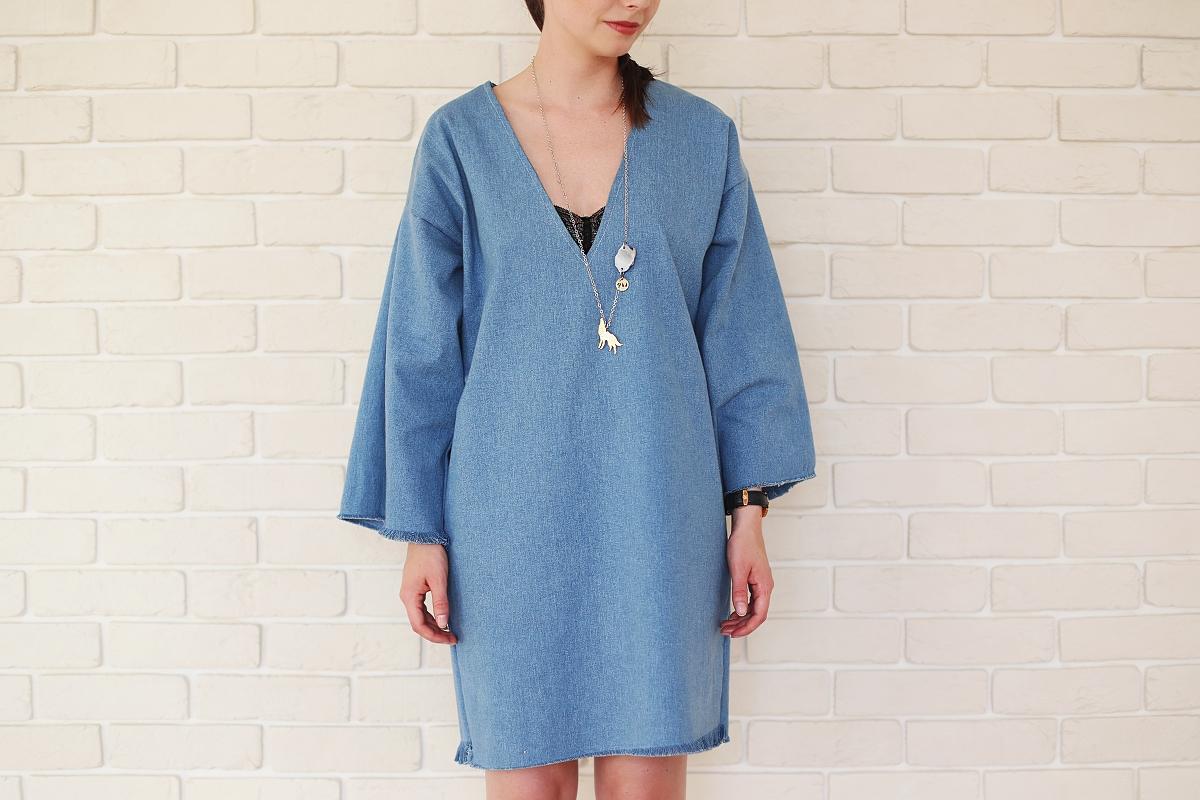Blog modowy - sukienka Anoi i naszyjnik Om Jewellery