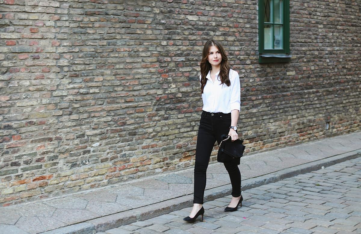 Czarno-biały elegancki zestaw