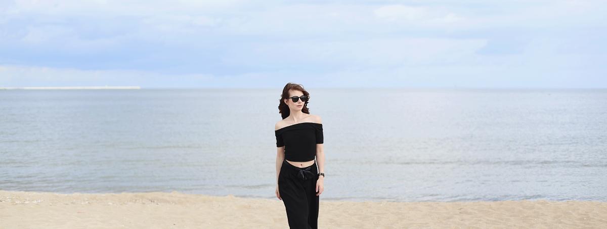 Sesja nad morzem - blog modowy