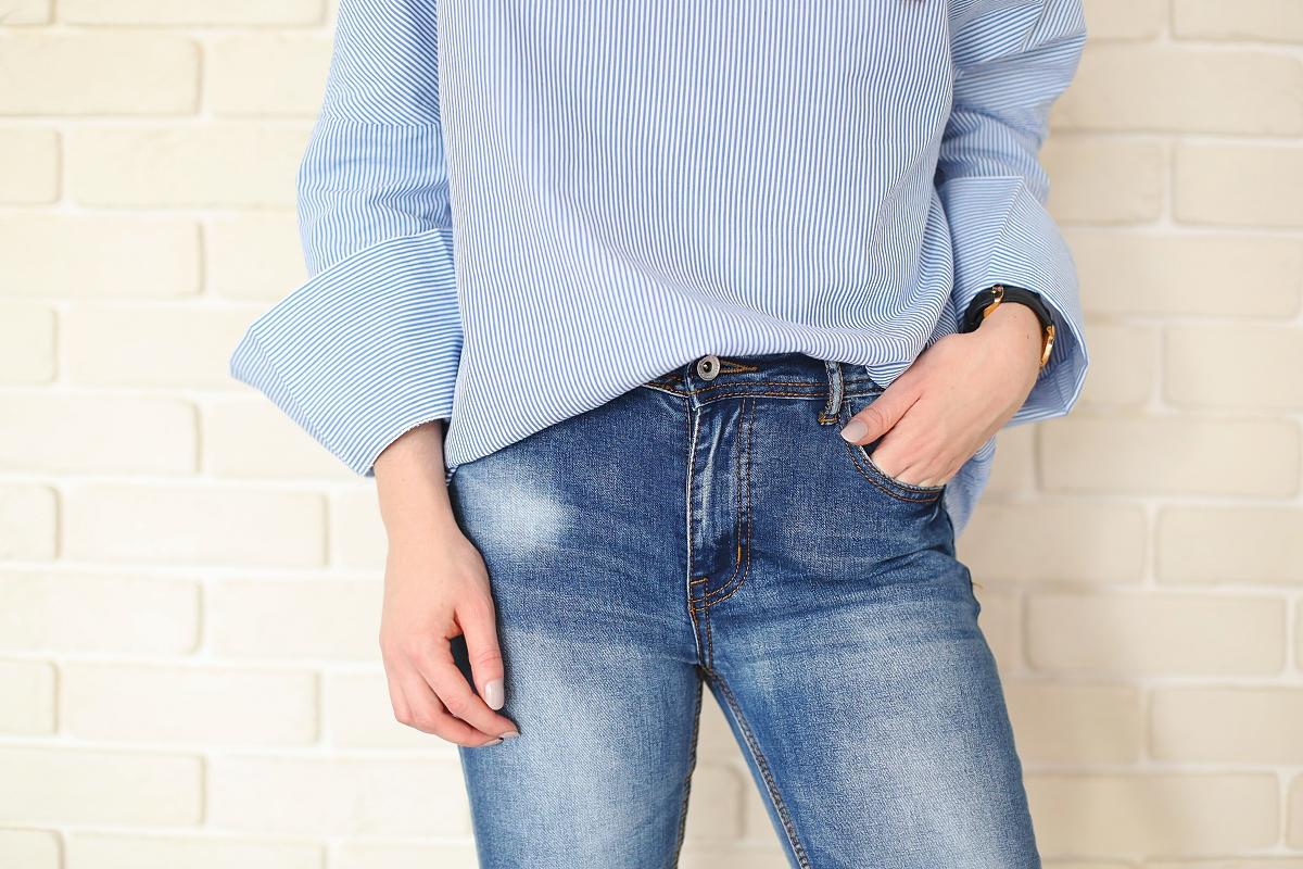 Minimalizm: koszula & jeansy