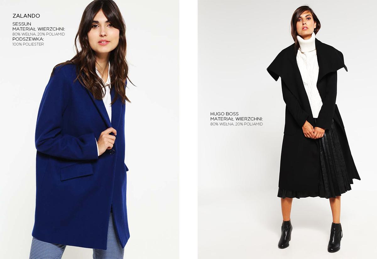 Wełniane płaszcze Zalando