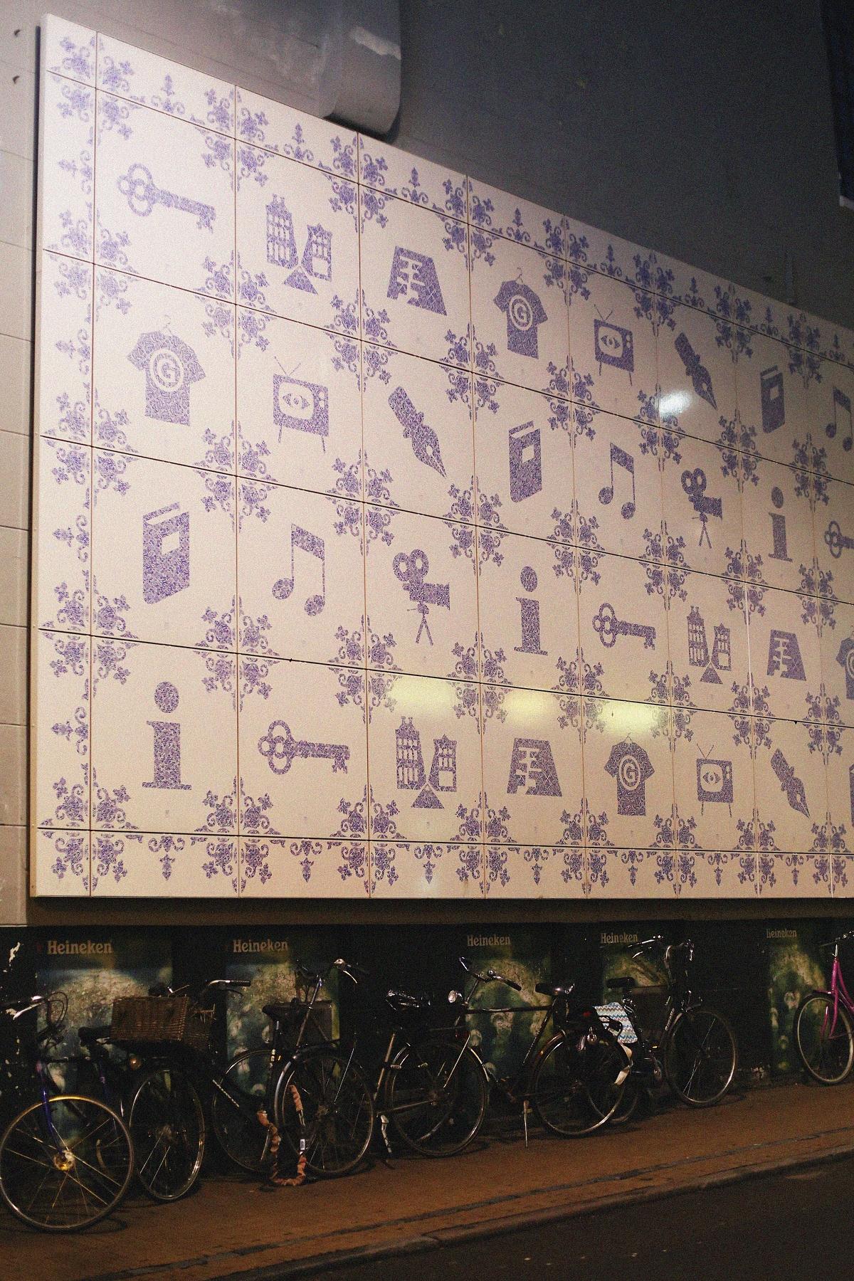 Groningen - kafle na ścianie