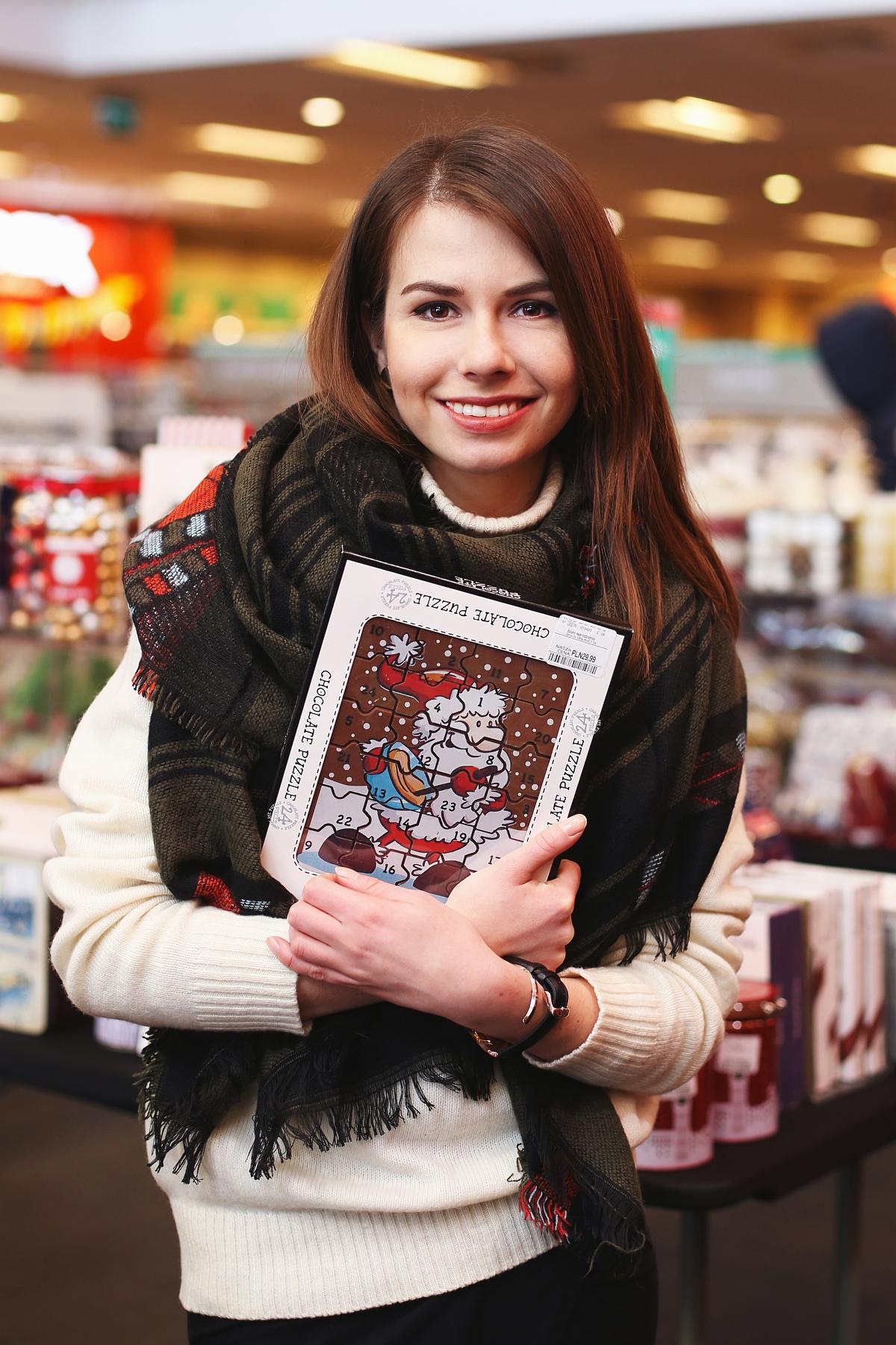 Puzzle czekoladowe z Mikołajem