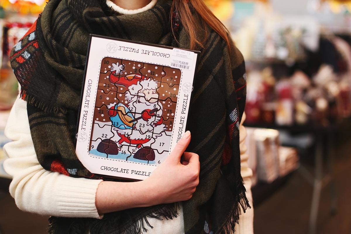 Świąteczne prezenty w TK Maxx - czekoladowe puzzle