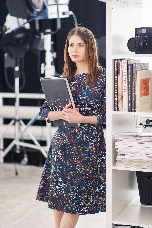 Asteria - wzorzysta sukienka Marie Zelie