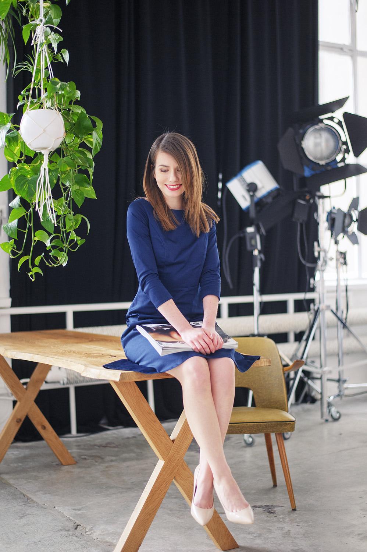 Sesja w studio fotograficznym - kampania Marie Zelie