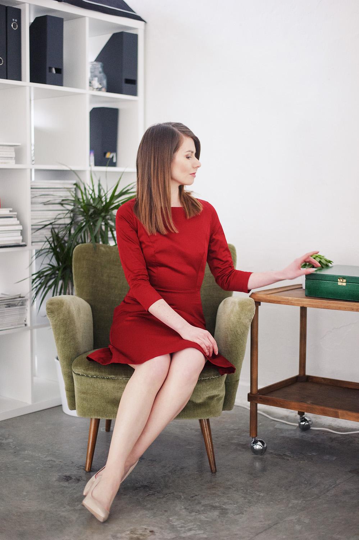 Marie Zelie - czerwona sukienka