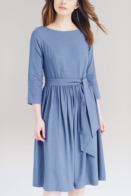 Limitowana edycja sukienki Melia - Marie Zelie - błękitna