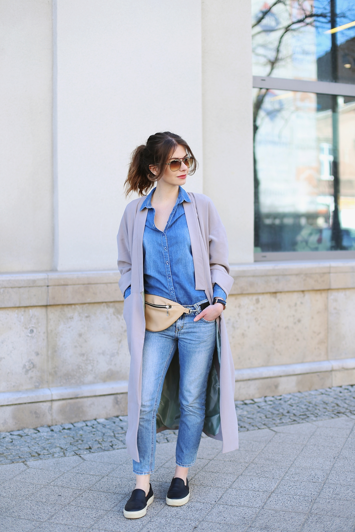 Wiosenna kolekcja Pro-be: długi płaszcz z rozcięciami po bokach