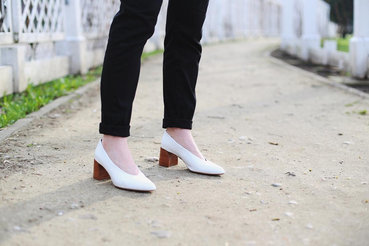 Białe buty Zara
