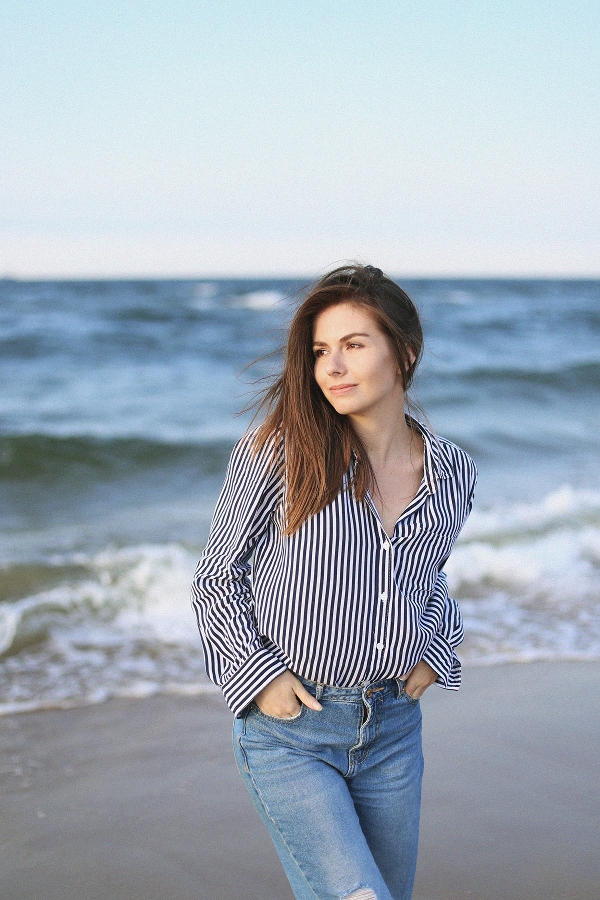 Blog modowy Gdańsk - sesja nad morzem