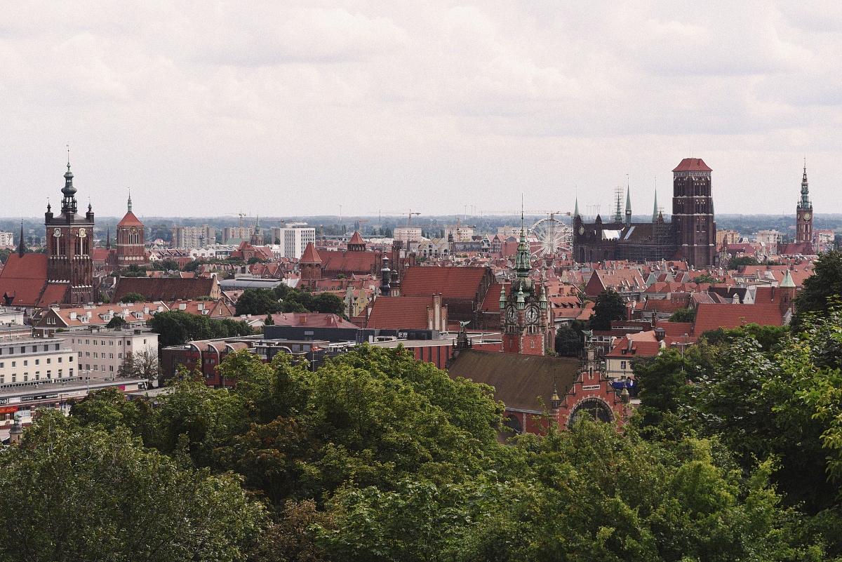 Grodzisko - widok na panoramę Gdańska