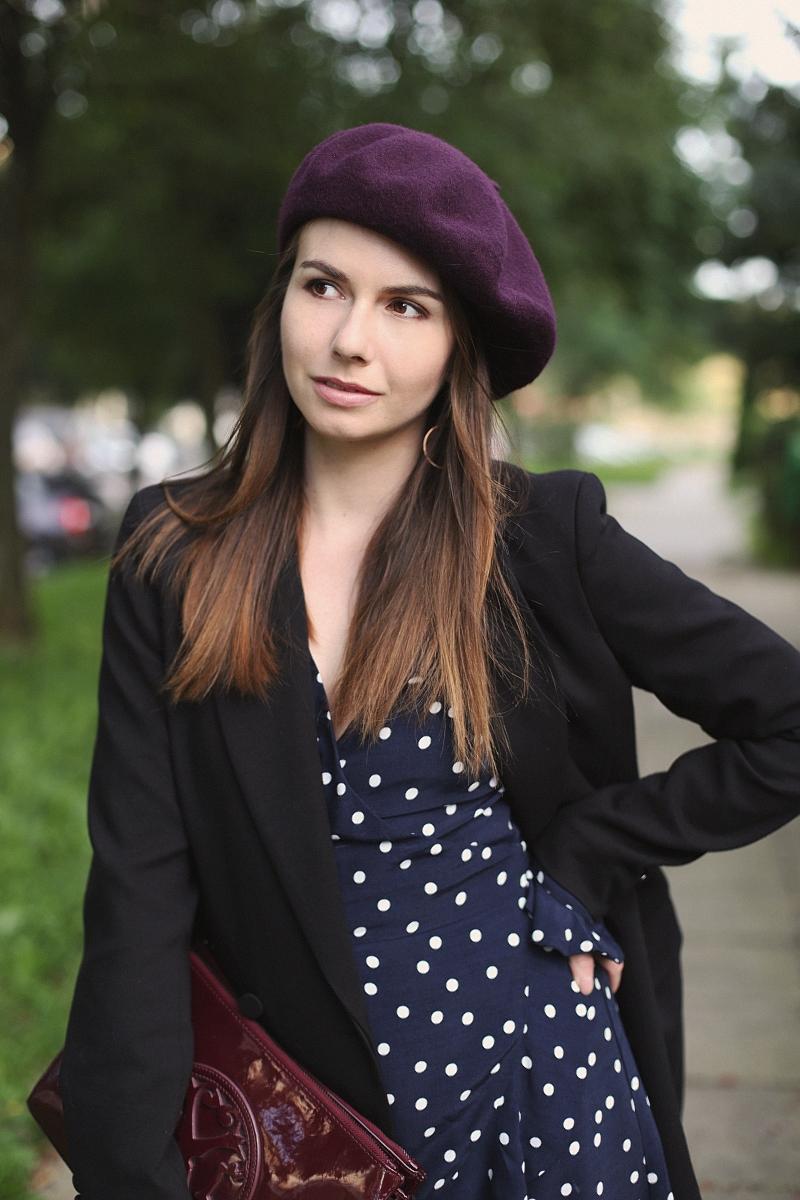 Jesienne nakrycie głowy - wełniany beret