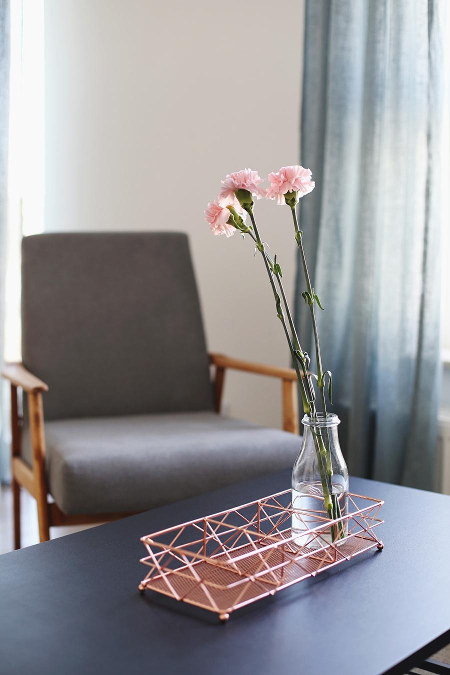 Salon z zielonymi akcentami – dodatki do domu