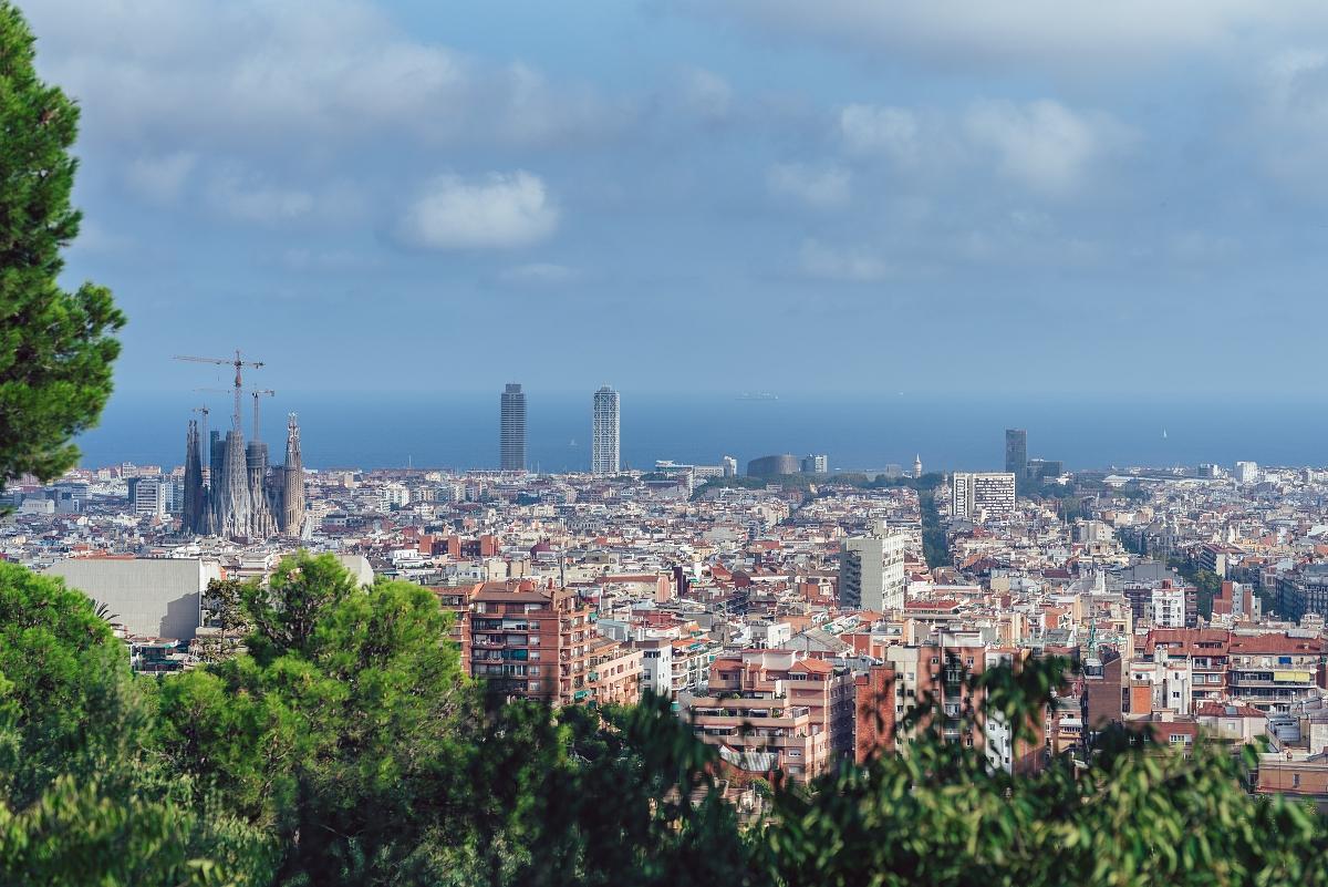 Park Güell widok na Barcelonę
