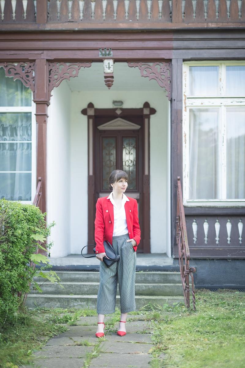 Spodnie culloty w eleganckiej stylizacji