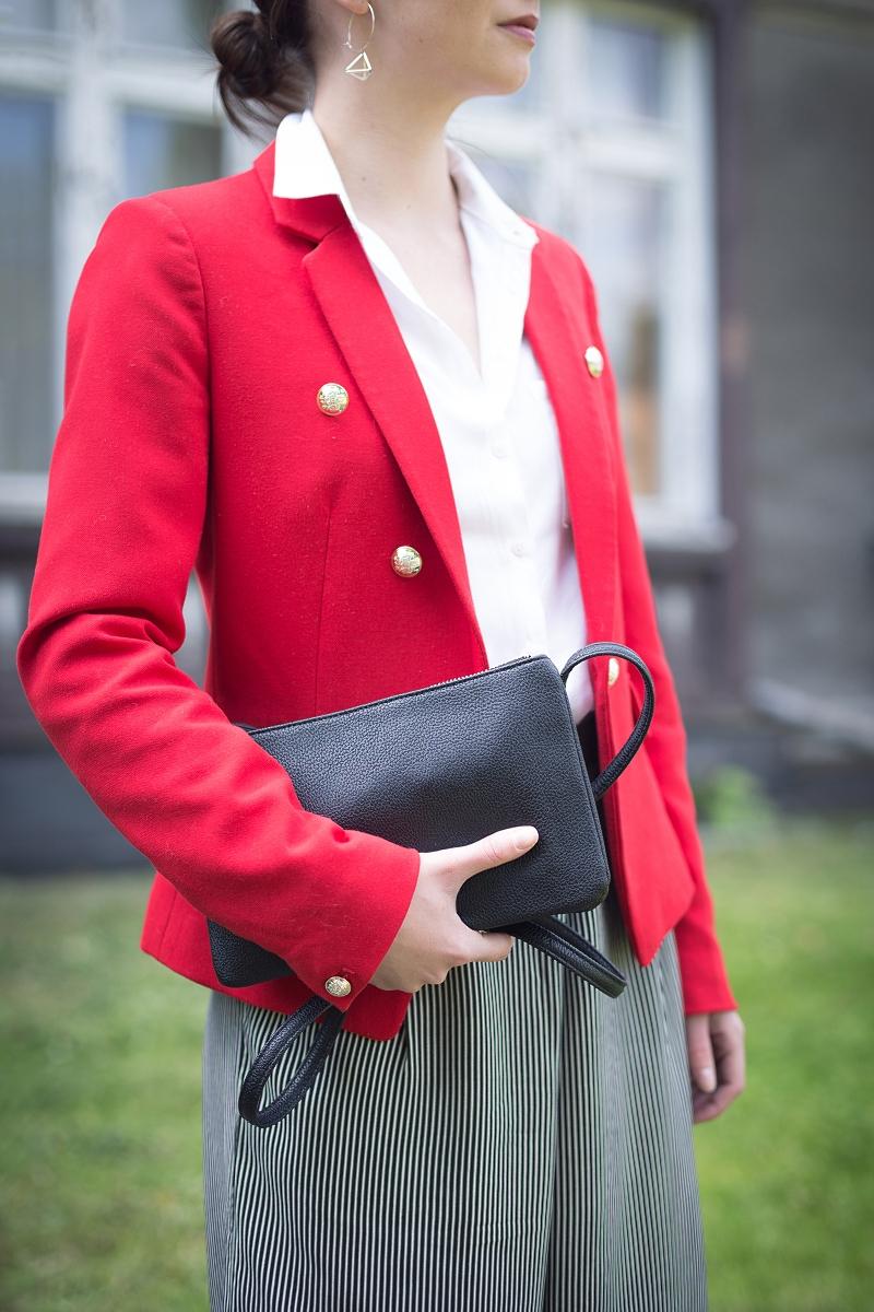 Stylizacja do pracy ze spodniami culottes