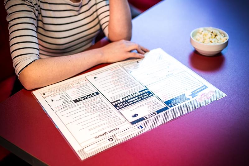 Karta dań w Casino Diner