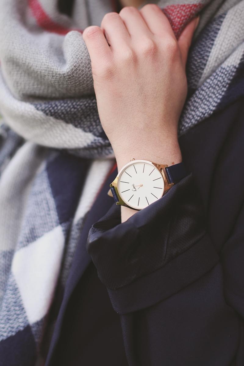 Zegarek z granatowym paskiem TK Maxx
