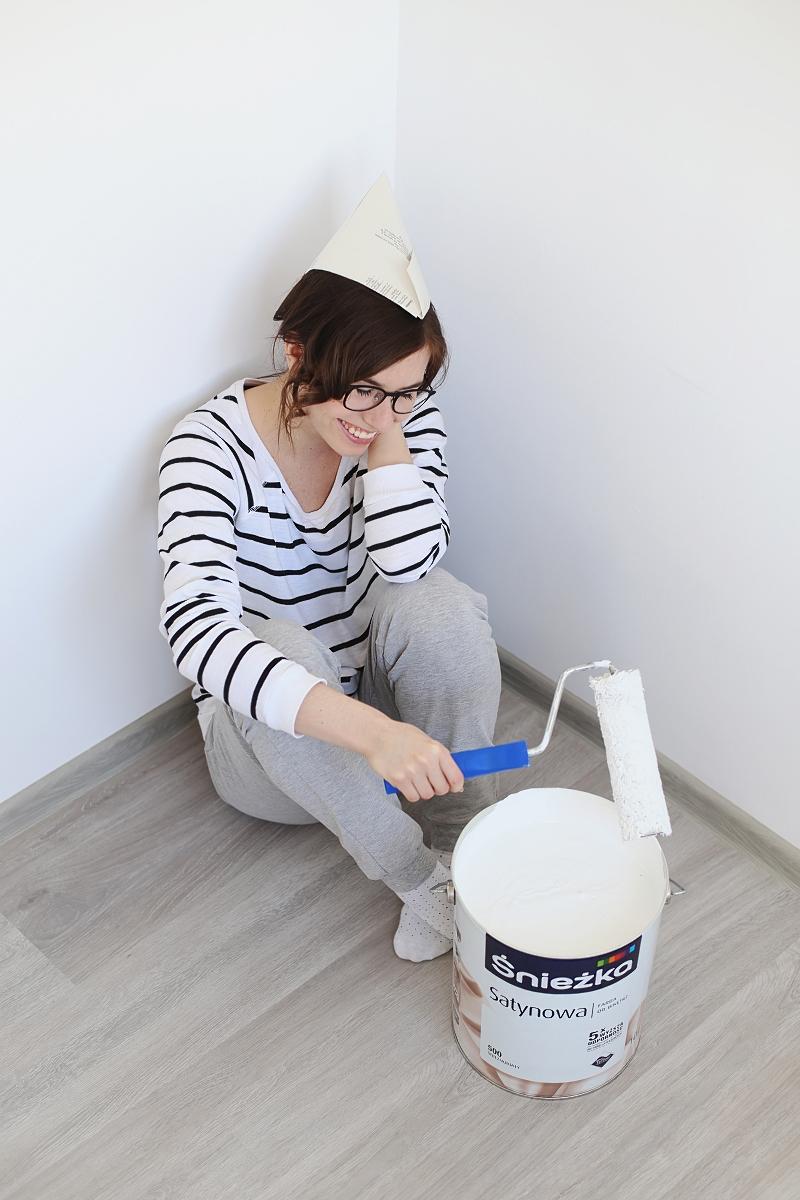 Malowanie ścian - Śnieżka Satynowa