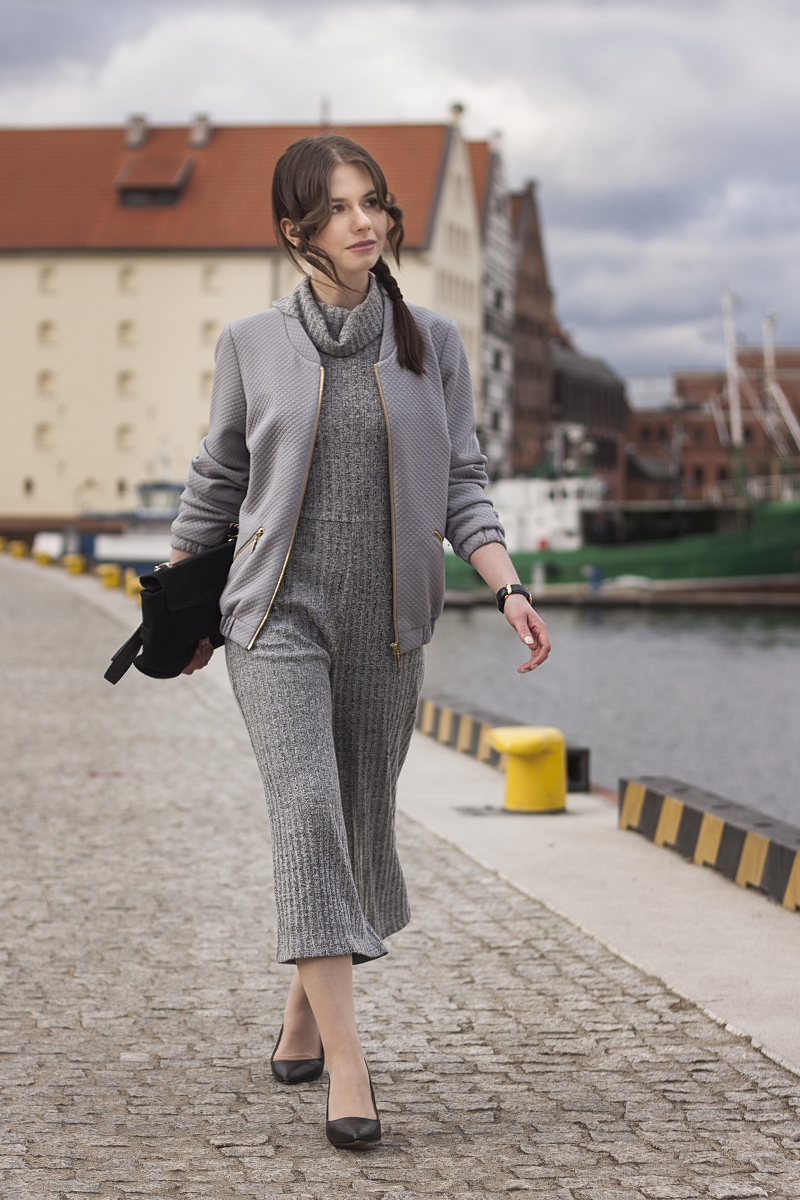 Kombinezon ze spodniami culottes