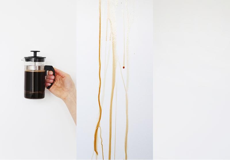 Farba zmywalna (Śnieżka Satynowa) a plamy z kawy