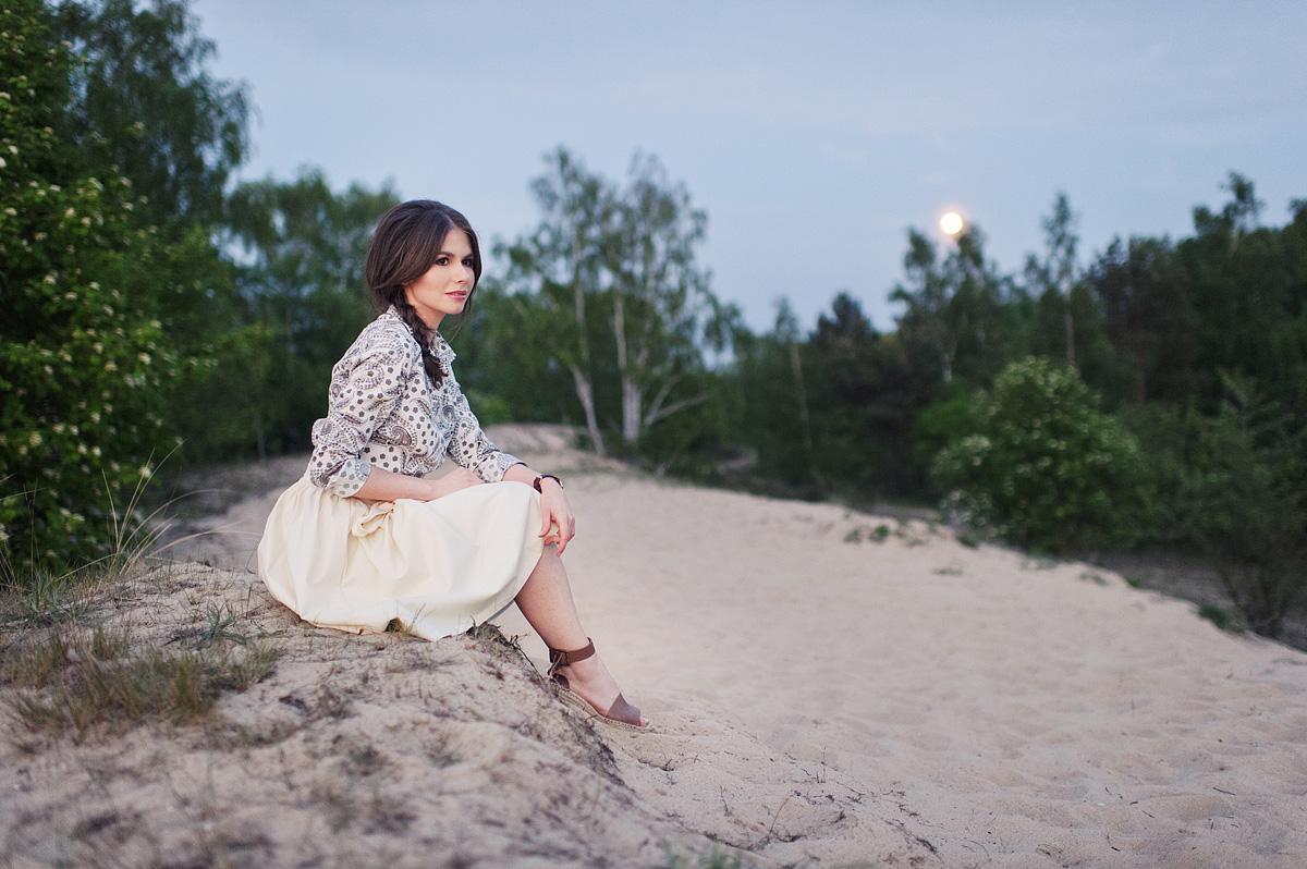 Marie Zelie - sesja na plaży