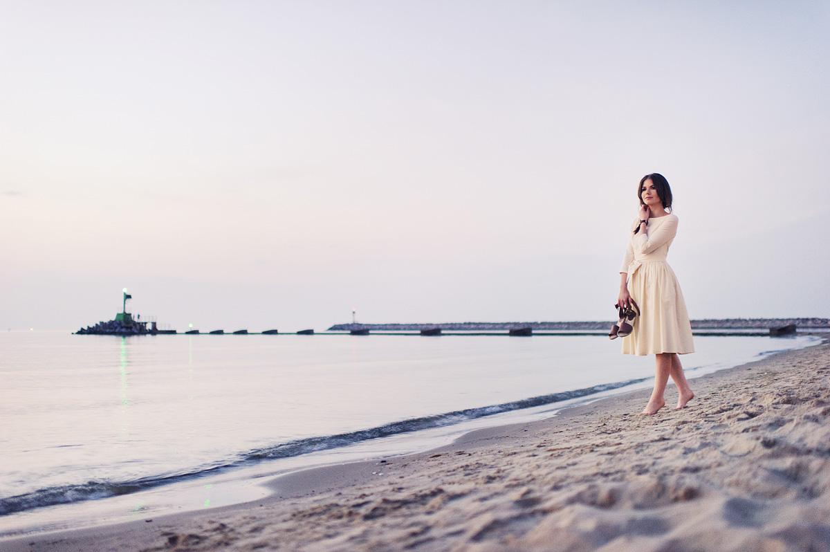 Slow fashion - sesja nowej marki nad morzem