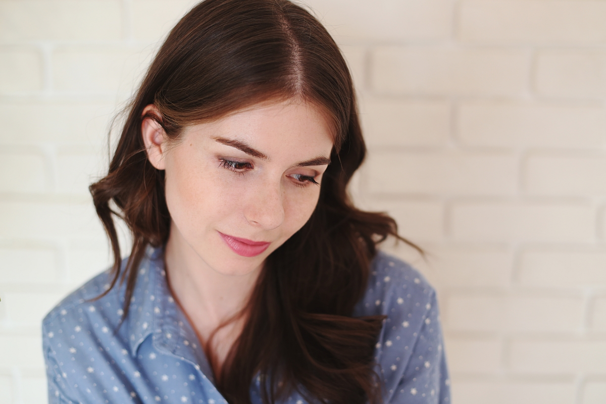 Naturalny make up dla szatynki