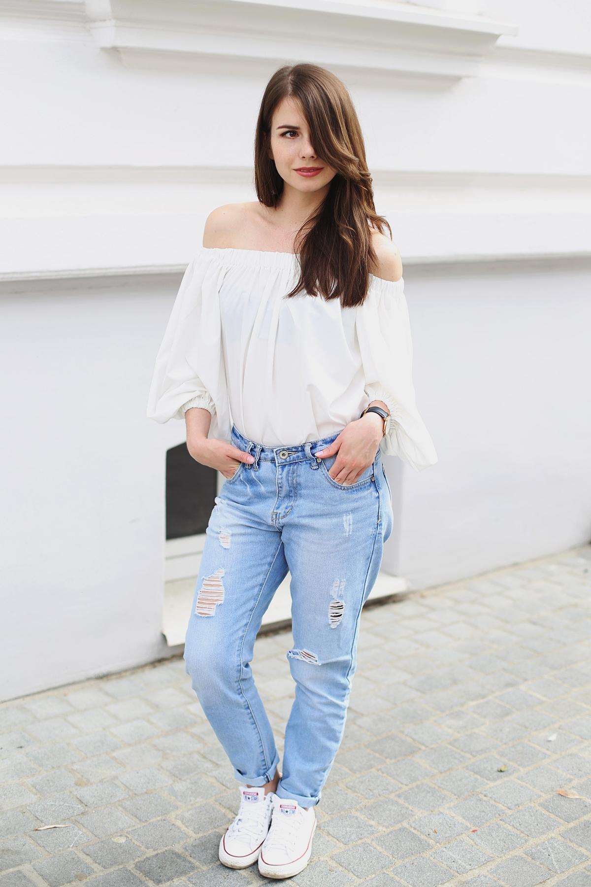 Casual - biel i jeans