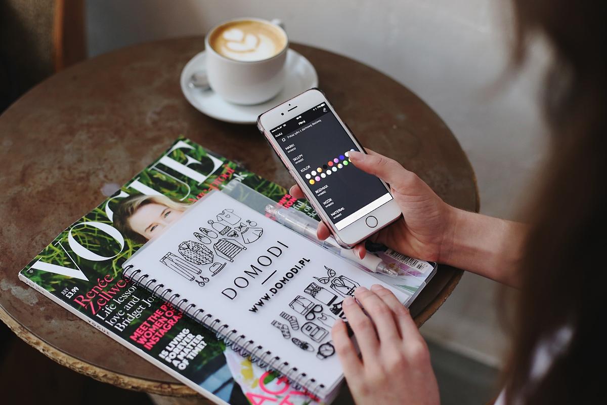 Zakupy w kawiarni - aplikacja mobilna Domodi