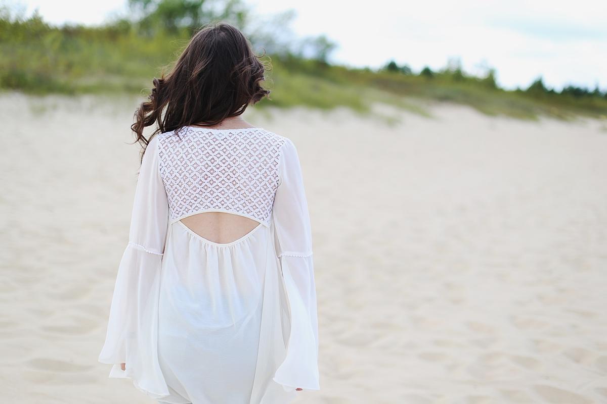 Blog modowy - sesja na plaży