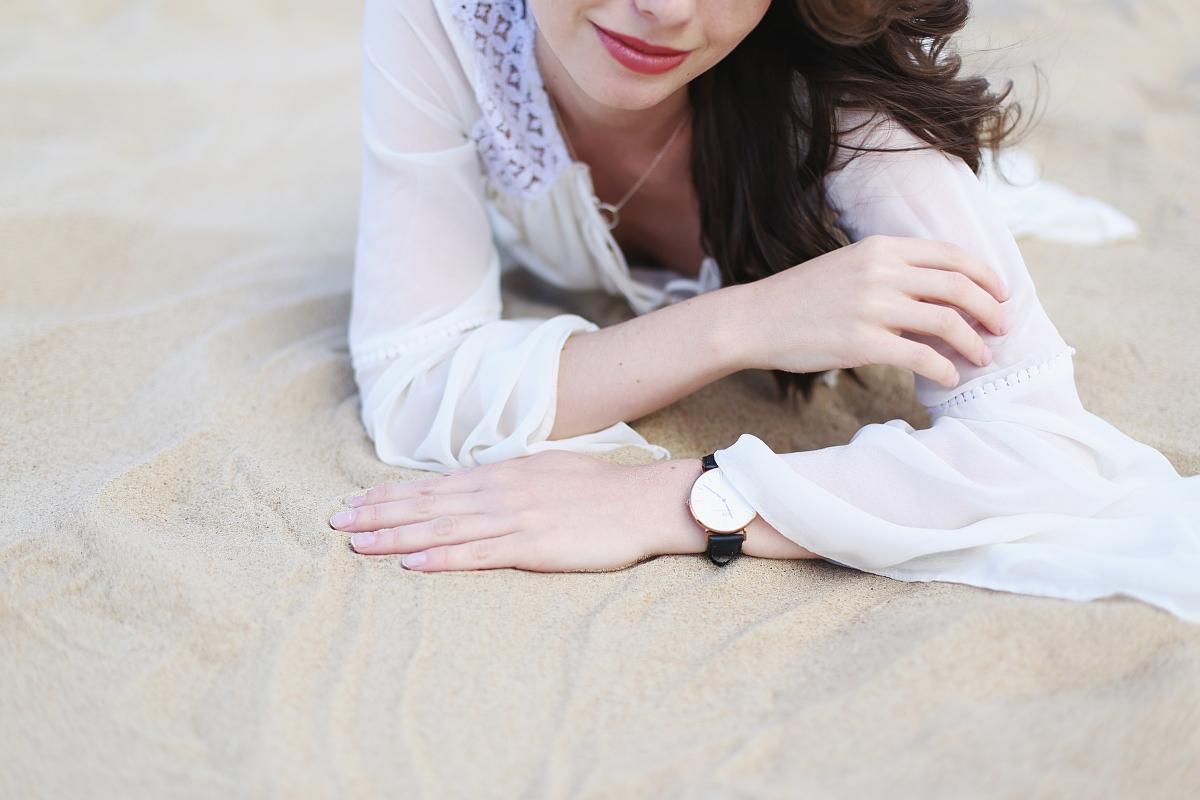 Zegarek Daniel Wellington - sesja na plaży