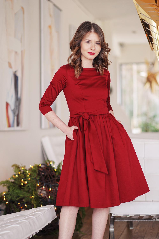 Świąteczna kampania klasycznych sukienek Marie Zelie