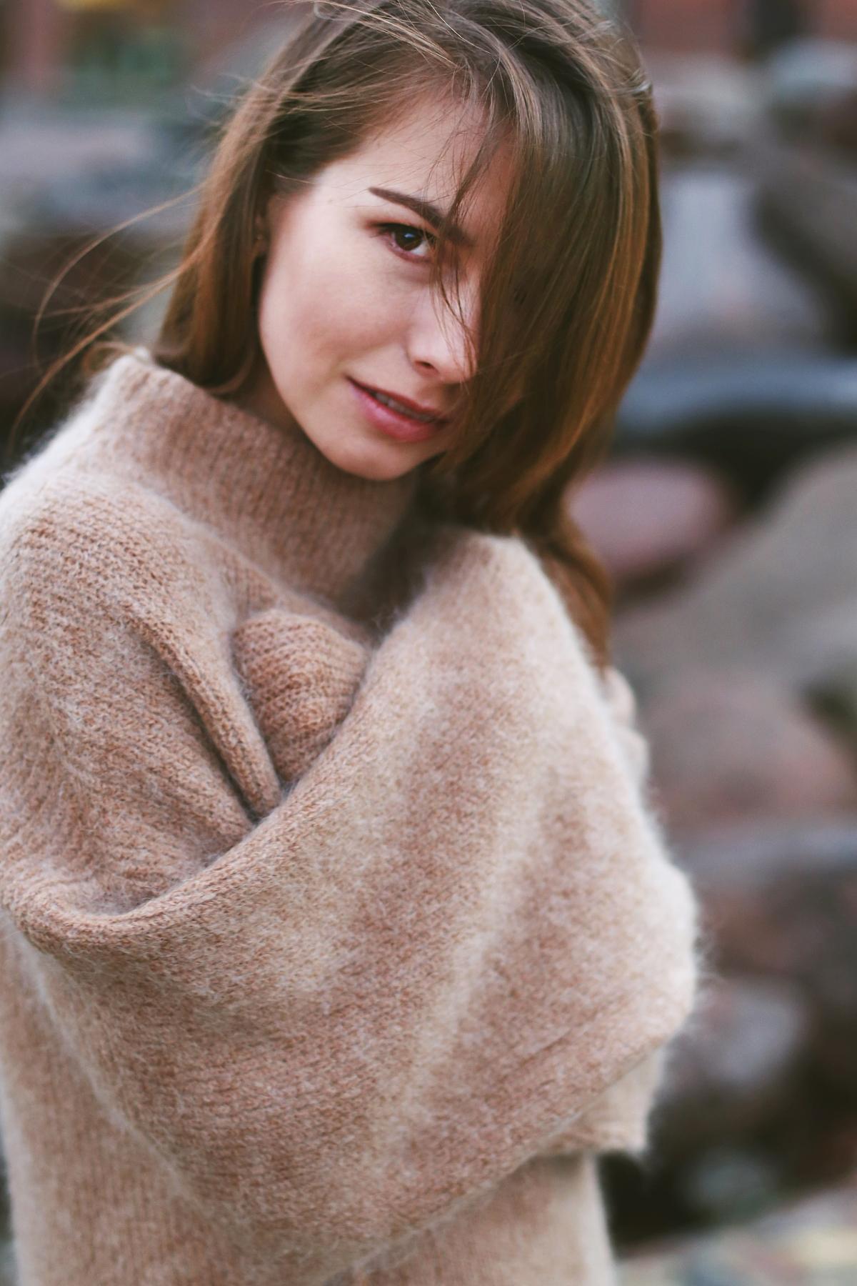 Wełna + moher, wełniany sweter