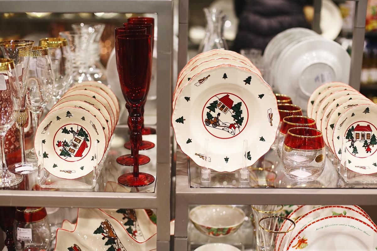 Świąteczne naczynia - talerze